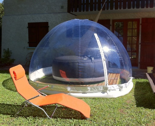 D co abri pour spa gonflable intex le mans 2123 abri for Abri de piscine gonflable